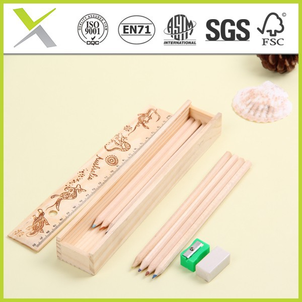 2014 new good pencil wooden pencil case for student
