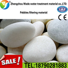 Stable in physical and chemical properties: Flat quartz polished round pebble river stone