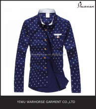 chinese collar men's shirt print