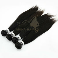 AAAA Grade 100 indian kinky straight remy hair weave wholesale