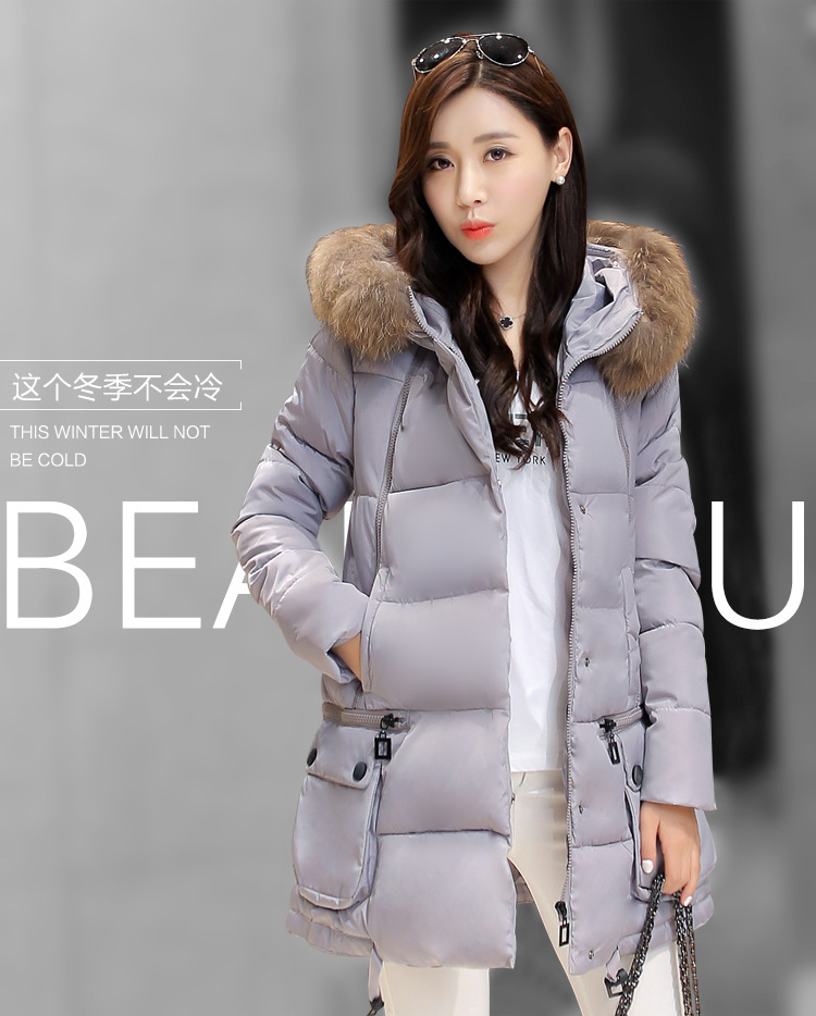 2016 new winter coat girls loose long women's coat female cotton padded clothes wholesale