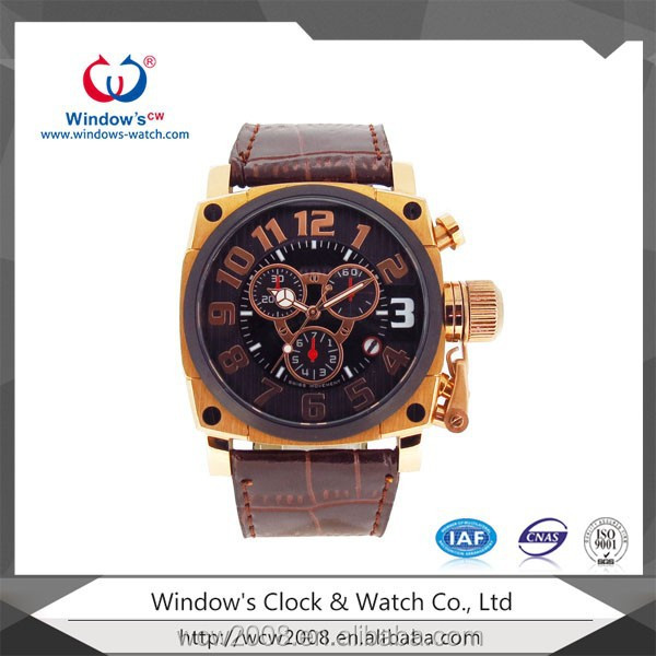Big wrist watch stainless steel watch for man watch
