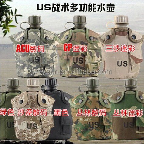 1L US military bottle+ cooking cup military kettle water bottle canteen