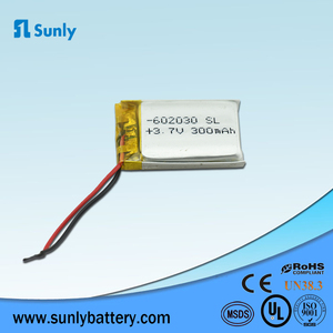 3.7v Rechargeable Li-ion 450mAh 602040pl Lithium Polymer Battery