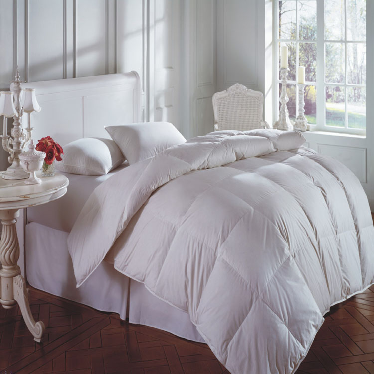 Hotel or Home Used Fiber Filling Cheap White Comforter queen king size wholesale duvet bedding sets
