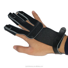 Archery Protective gear Leather 3 Finger Guard Gloves For Recurve Bow Shooting Protection
