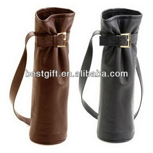 High quality leater wine bottle carrier bag single wine bag single wine tote