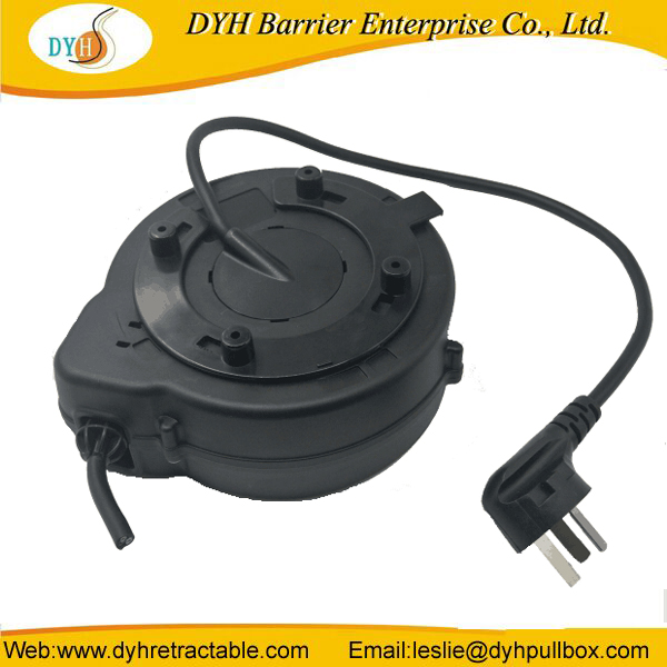 Mini auto-wind steel wire cable reel for tool vehicles, electrocar charge,projector,power extension cord