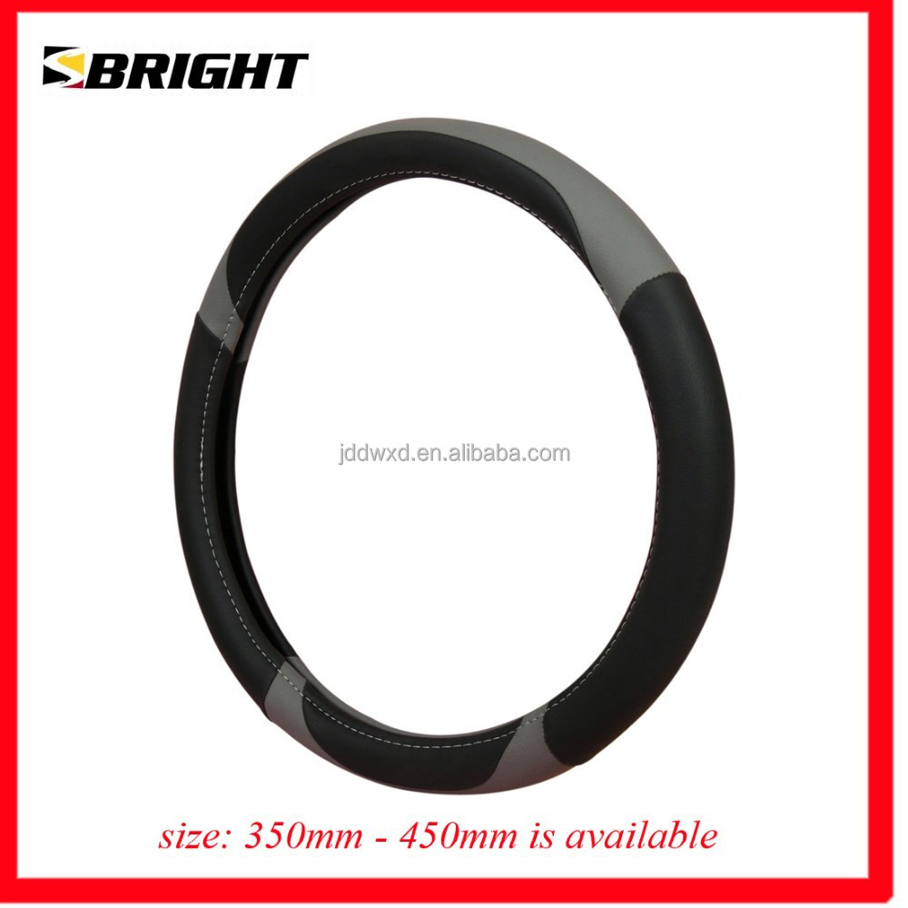 SBRIGHT 2014 Universal Steering Wheel Cover BLK/GRY