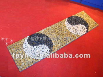 inddor and outdoor decorative long pebble carpet