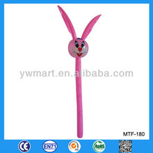 Wholesale and retail pink animal stick inflatable rabbit, inflatable toy rabbits, cute rabbit inflatable toy