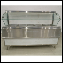 Stainless Steel Showcase/Stainless Steel Food Warmer