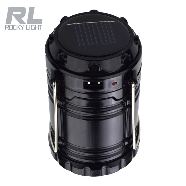China supply portable telescopic emergency lantern LED solar charging camping lights with USB