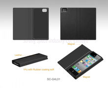 Black magnet book style new phone case for iphone5