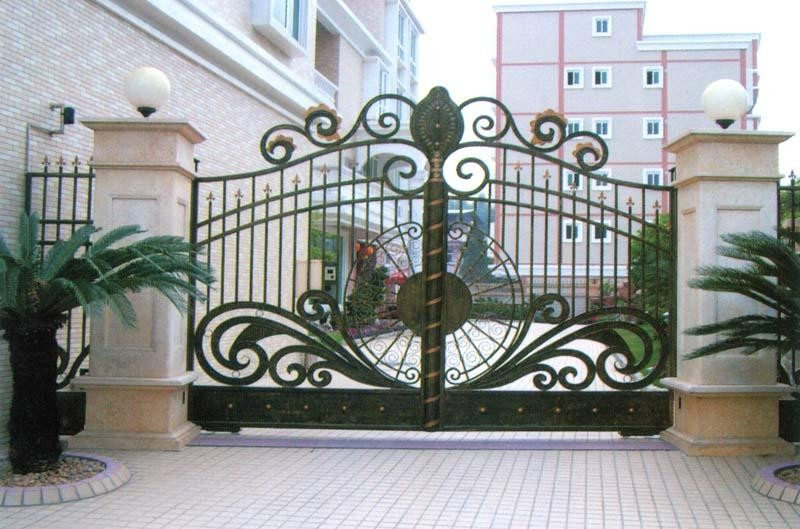 Good quality steel chain link fence gate designs for home