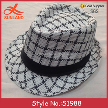 S1988 new style gentlemen vintage cool free pattern jazz hats cheap fedora hats for men wholesale