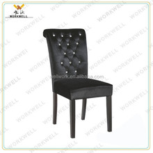 WorkWell good leather dining room chair with rubber wood legs Kw-D4160