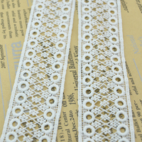 2016 newest design top quality guangzhou made floral lace fabric trim WLCB-052