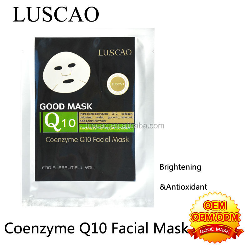 Coenzyme q10 whitening essence beauty face mask sheet for black skin people