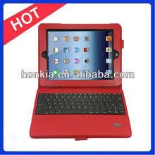 New Arrival Detachable Wireless Bluetooth keyboard with Leather Case For iPad 3 Case