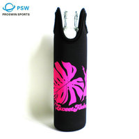 Insulated black portable promotional custom printing water bottle cooler