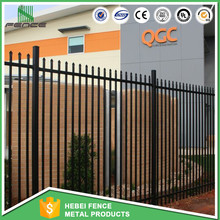 Hot dip galvanized spear top 2 rails garrison fencing panels