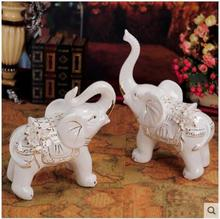 Decorative Wholesale Porcelain elephant figurine ceramic