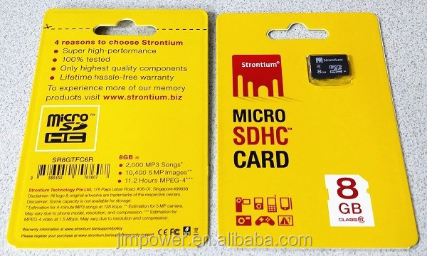 Strontium TF Card - Basic Series 8GB memory card