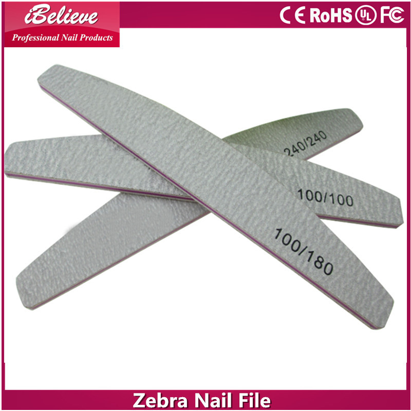 NO Electric Nail Salon Use Zebra Emery Board,nail file in crystal