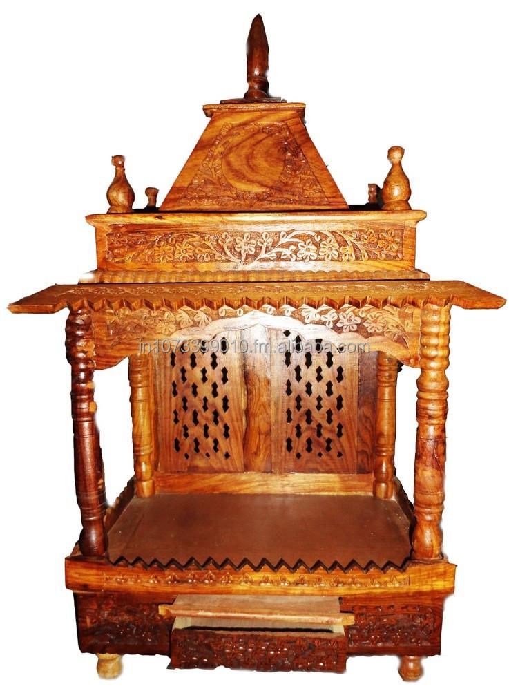 Wooden Mandir / Temple In Sheesham   Buy Mandir Temple India Home Product  On Alibaba.com
