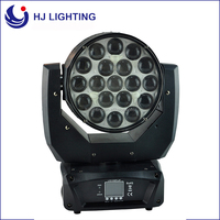 china dj equipment 19x12w RGBW zoom the dog mac aura moving head led stage light
