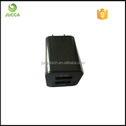 Mobile Phone Wall Charger with Dual USB Port Black Color