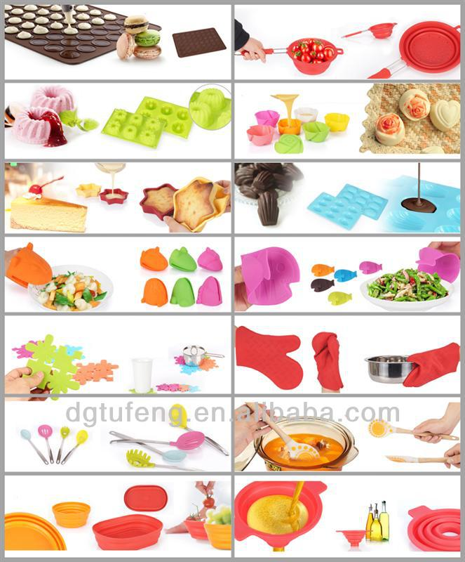 silicon colorful ice tray for ice cream