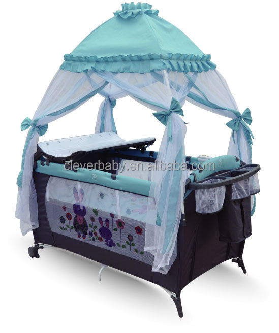 Cleverbaby baby bed foldable baby cot with top mosquito net : model BP906