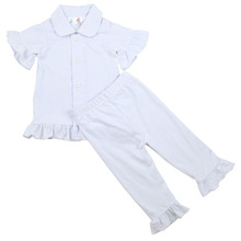 Wholesale 2016 hot sales buttons baby autumn/summer pajama good quality fast delivery boys/girls children sleep clothes