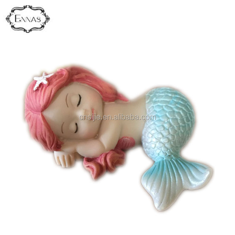 OEM Accepted Craft Sculpture Resin Souvenirs Decoration Mermaid Fairy Figurine
