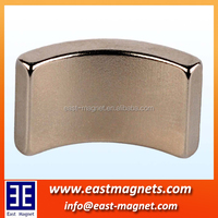 strong arc ndfeb magnet/segment motor magnet/neodymium magnet permenent electric car and electric bike