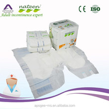 Breathable and waterproof disposable diaper for adult