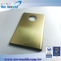 Golden color anodized aluminum custom waterproof cell phone case