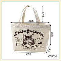 Fashion Promotion Cheap Reusable Cotton Tote Shopping Bags