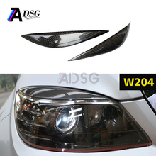 CAR HEADLIGHT CARBON FIBER EYEBROWS FOR Mercedes W204