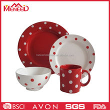 4pcs bright colored melmaine dinnerware