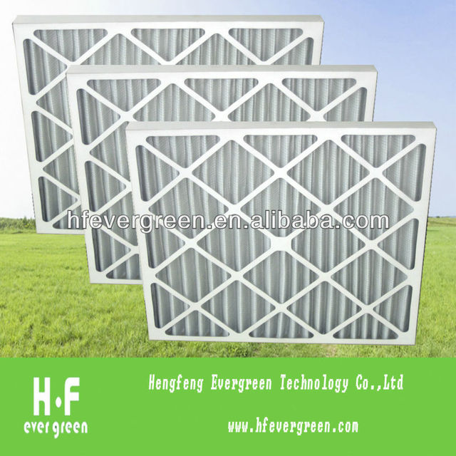 Paper frame filter or pleated panel air filter or G3 G4 air filter