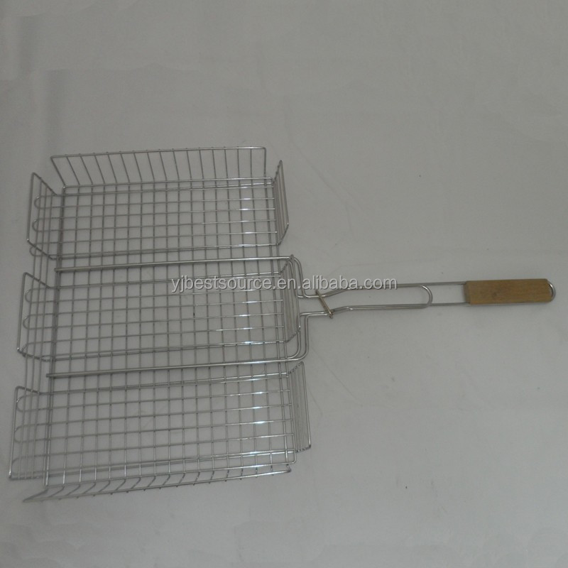 Stainless Steel Double Barebecue bbq Grill Net