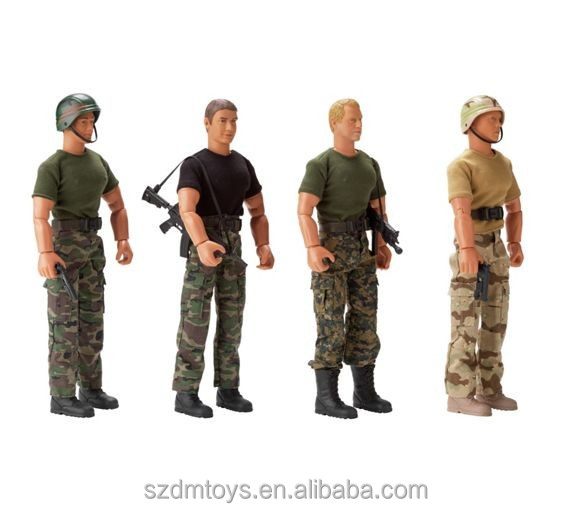 High quality lifelike soldiers plastic human figurines ICTI factory