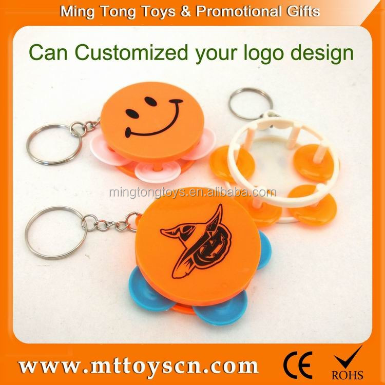 Keychain gift hot sales toy smile mini wholesale tambourine