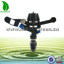 Heavy duty reliable plastic impact sprinkler with cap