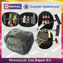Emergency Motorcycle Tyre Repait Kit, CO2 Cartridges, Tubeless Tire Repair Kit