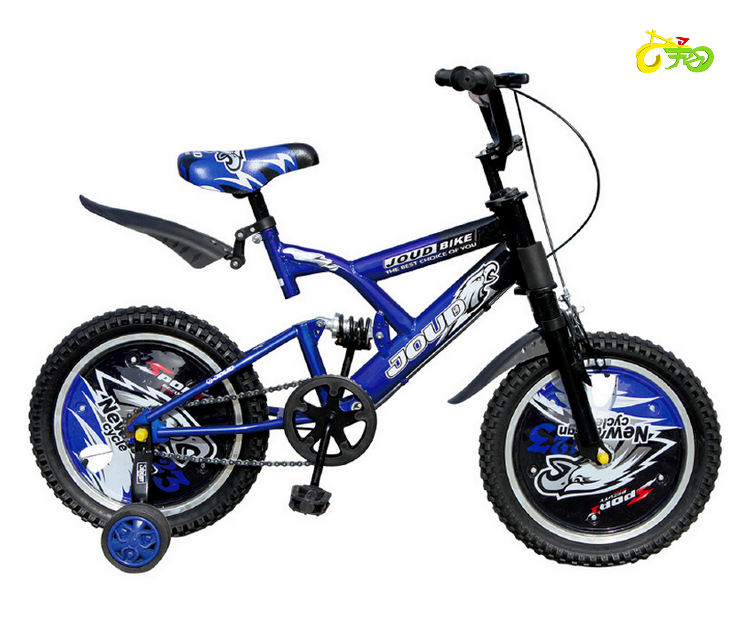 Hebei Yixiang bike for kids bicycle BMX bike dirt bike with frame suspension and hub cover motorcycle look-16''