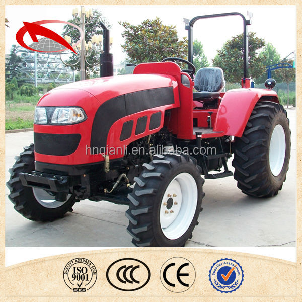 Small 50HP farm tractor professional in rice Paddy field